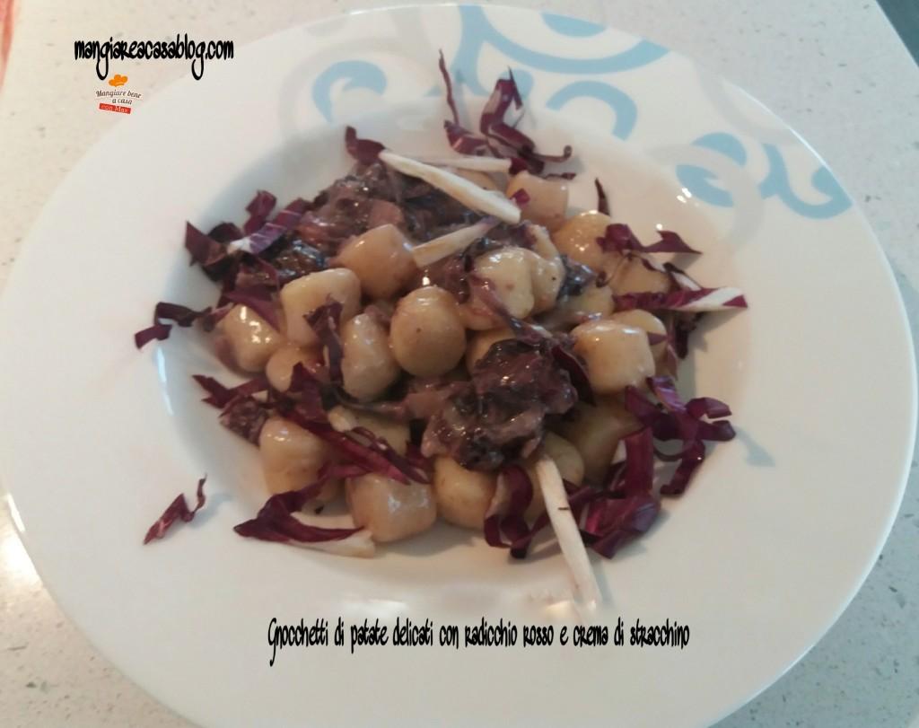 Gnocchi al gorgonzola cotto e mangiato